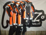 Race en Zo RACING SUIT fluo oranje, zwart, wit